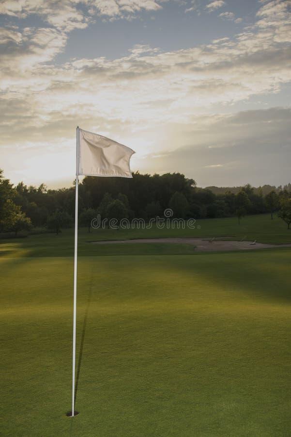 Golf at sunset royalty free stock photos