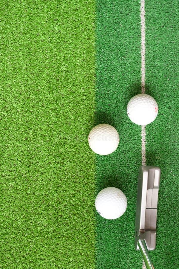 Golf sur le vert image libre de droits