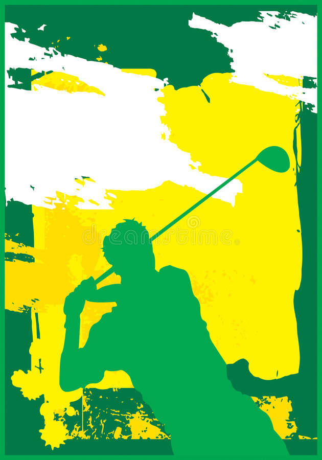 Golf Swing 1 vector illustration