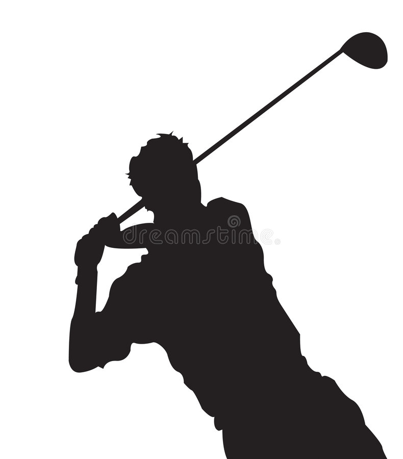 Download Golf Swing 1 stock vector. Illustration of sunset, playing - 3018243