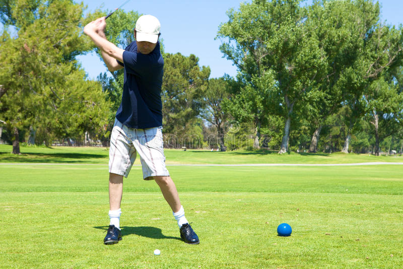 Golf Swing stock image
