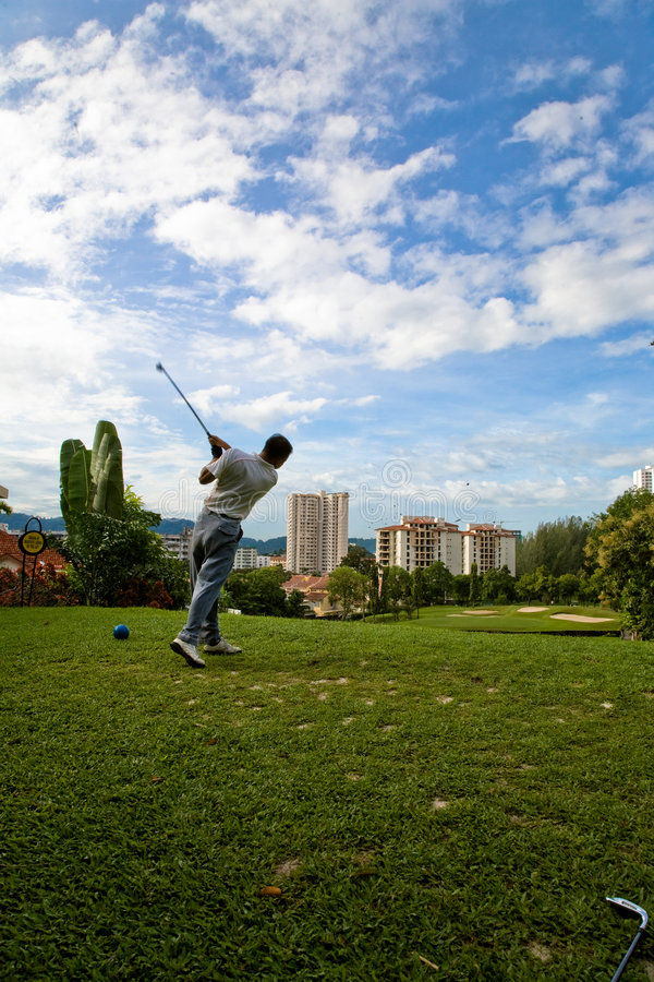 Download Golf swing stock photo. Image of course, sunny, golf, picturesque - 3206990