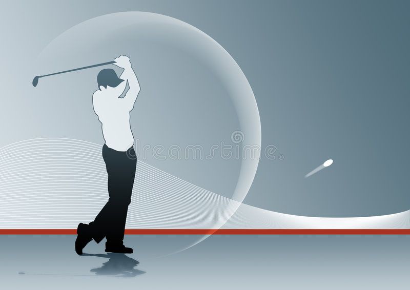 Download Golf Swing stock illustration. Image of golf, shot, ball - 5491431