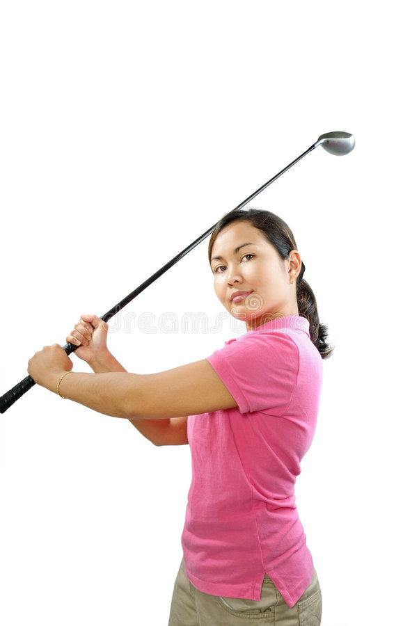 Download Golf swing stock photo. Image of club, wood, shoe, pink - 6076202