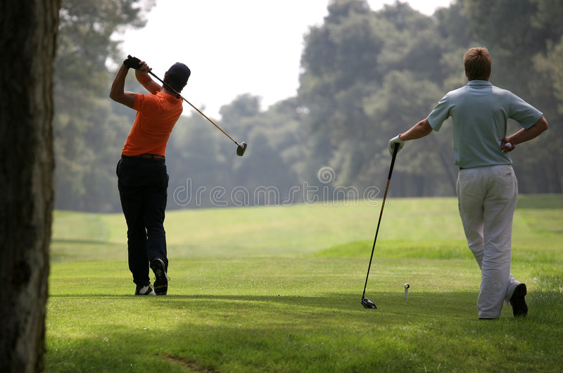 Golf swing in riva dei tessali royalty free stock image