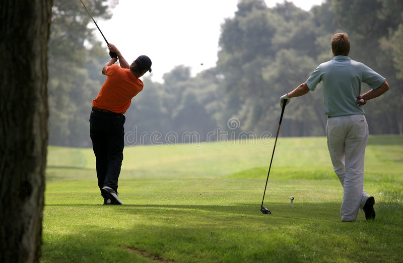 Golf swing in riva dei tessali royalty free stock image