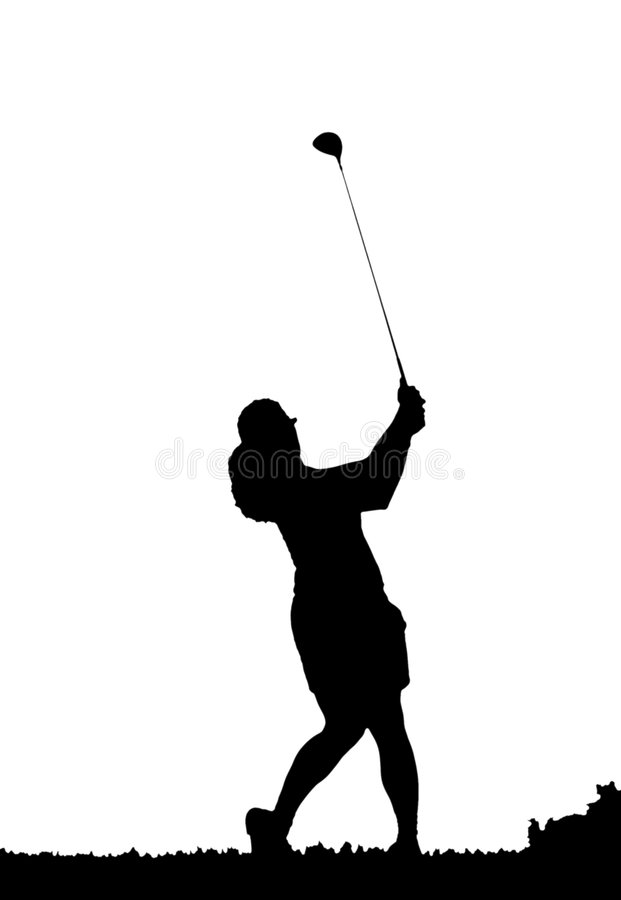 download golf swing silhouette stock illustration illustration of player 5851866