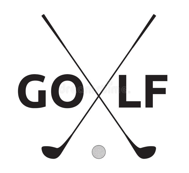 Golf symbol royalty free illustration