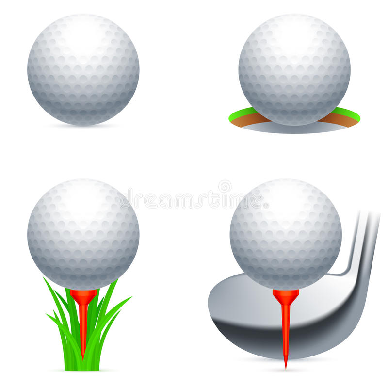 golf symboler royaltyfri illustrationer