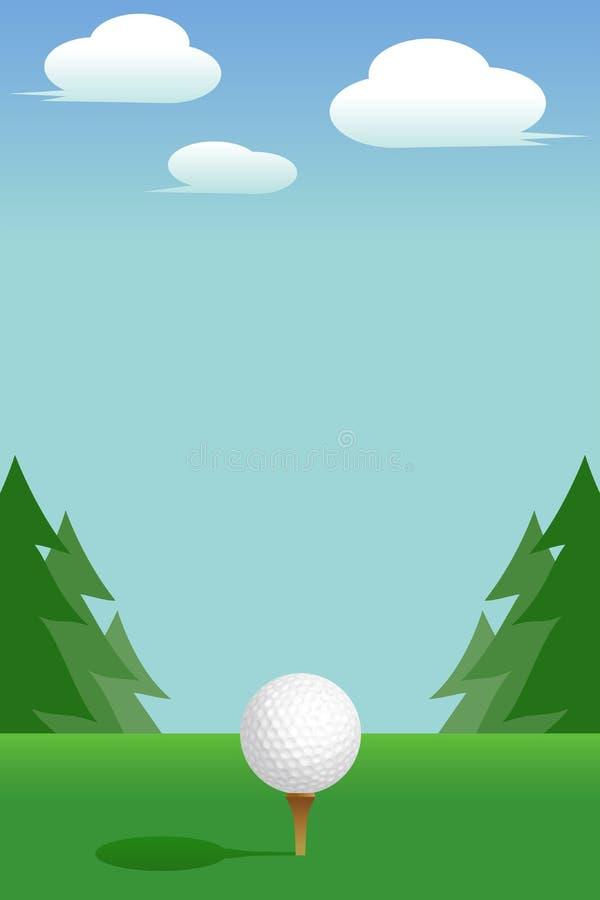 Golf: T-stuk royalty-vrije illustratie