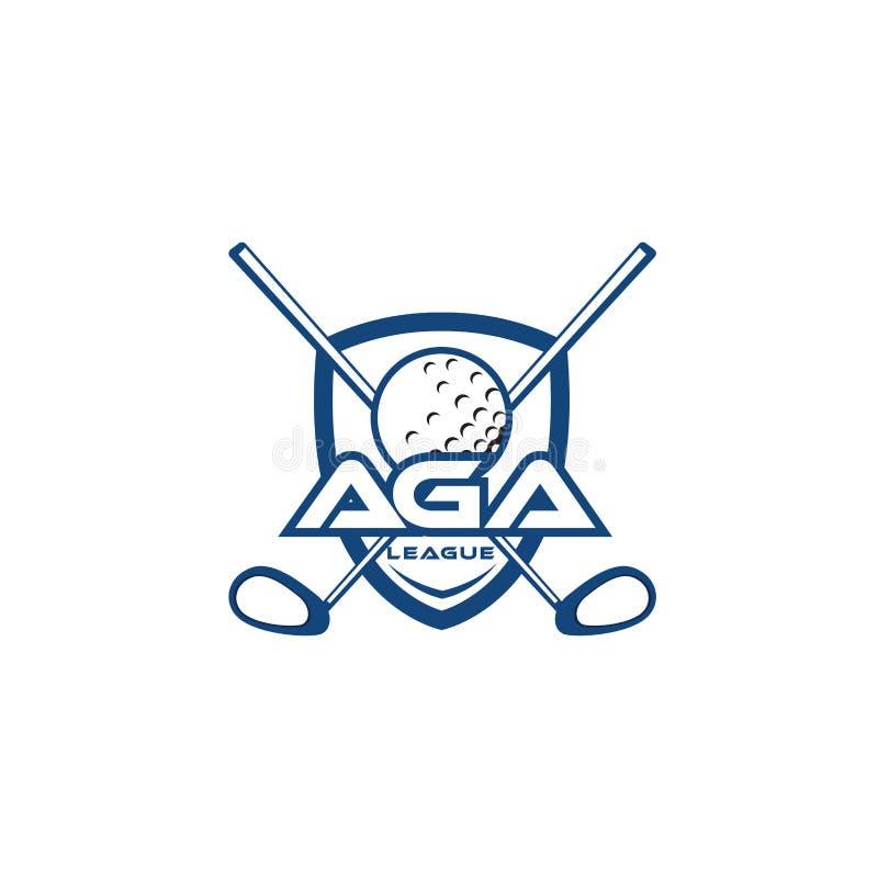 Golf team logo template stock illustration