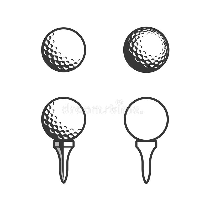 Free Golf Tee And Ball Icon Stock Image - 139389701
