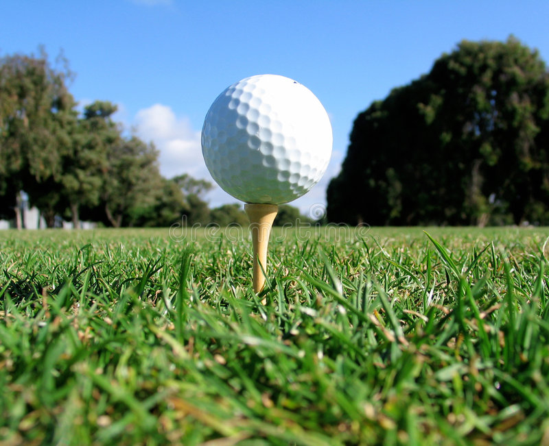 Golf Tee Shot royalty free stock photo