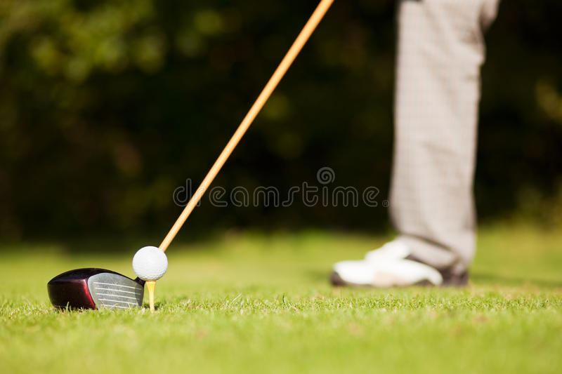 Golf Teeing Stock Images