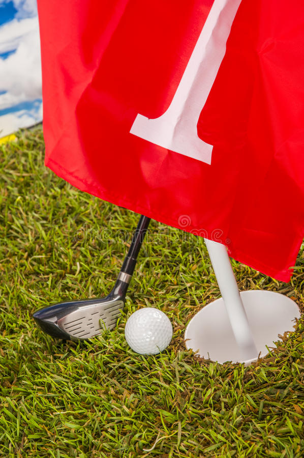 Download Golf Theme On Green Grass And Sky Background Stock Photo - Image of grass, game: 34900400