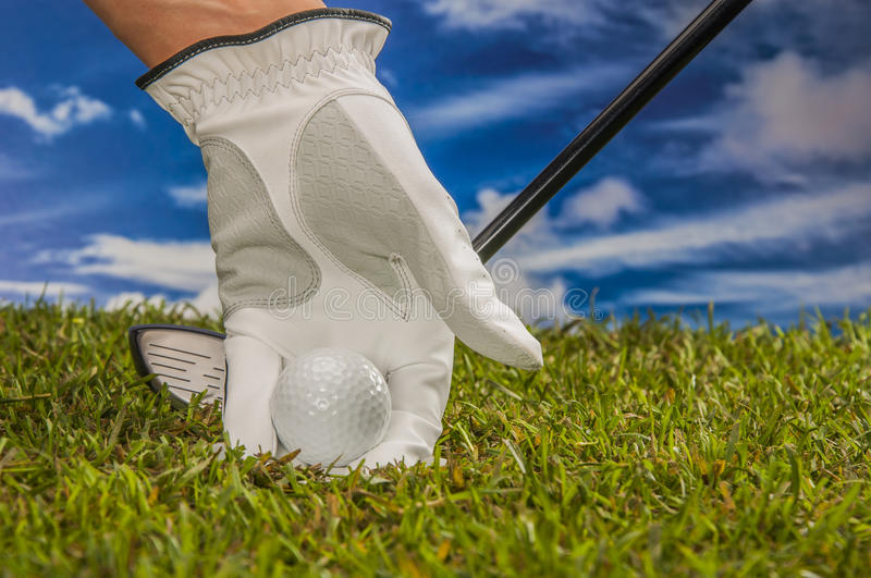 Download Golf Theme With Vivid Bright Colors Stock Image - Image: 34899197