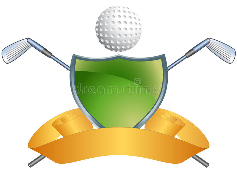 Golf Themed Background - Green Shield stock illustration