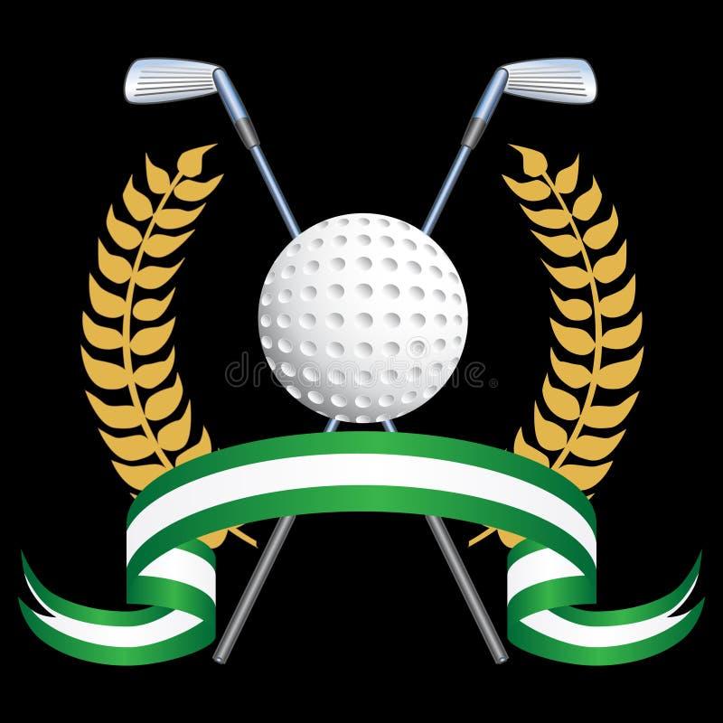 Golf-themenorientierter Hintergrund lizenzfreie abbildung