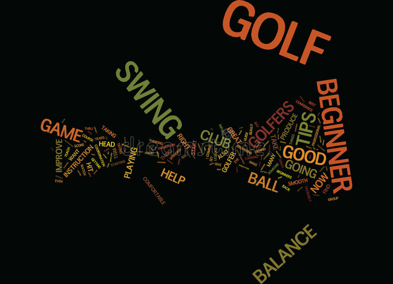 Golf Tips For The Beginner Golfer Text Background Word Cloud Concept stock illustration