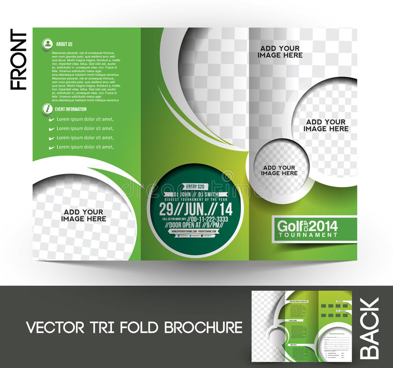 Download Golf Tournament Brochure Stock Vector. Illustration Of Competition    41889010