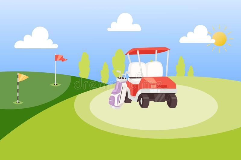green golf background for poster stock vector