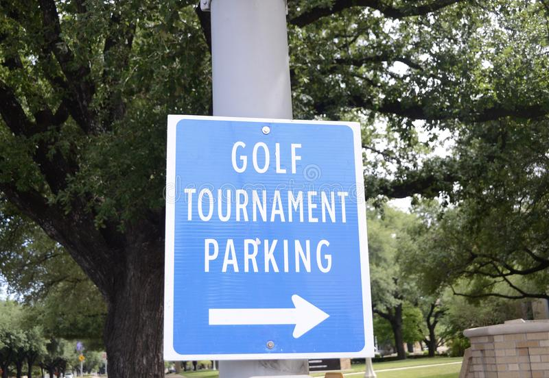 Golf Tournament. Golf is a club-and-ball sport in which players use various clubs to hit balls into a series of holes on a course in as few strokes as possible stock photography