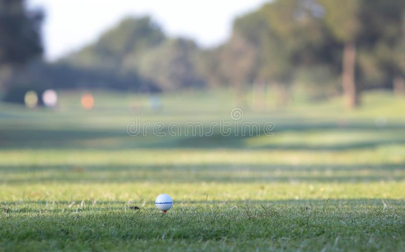 Golf tournament detail on ball royalty free stock photography