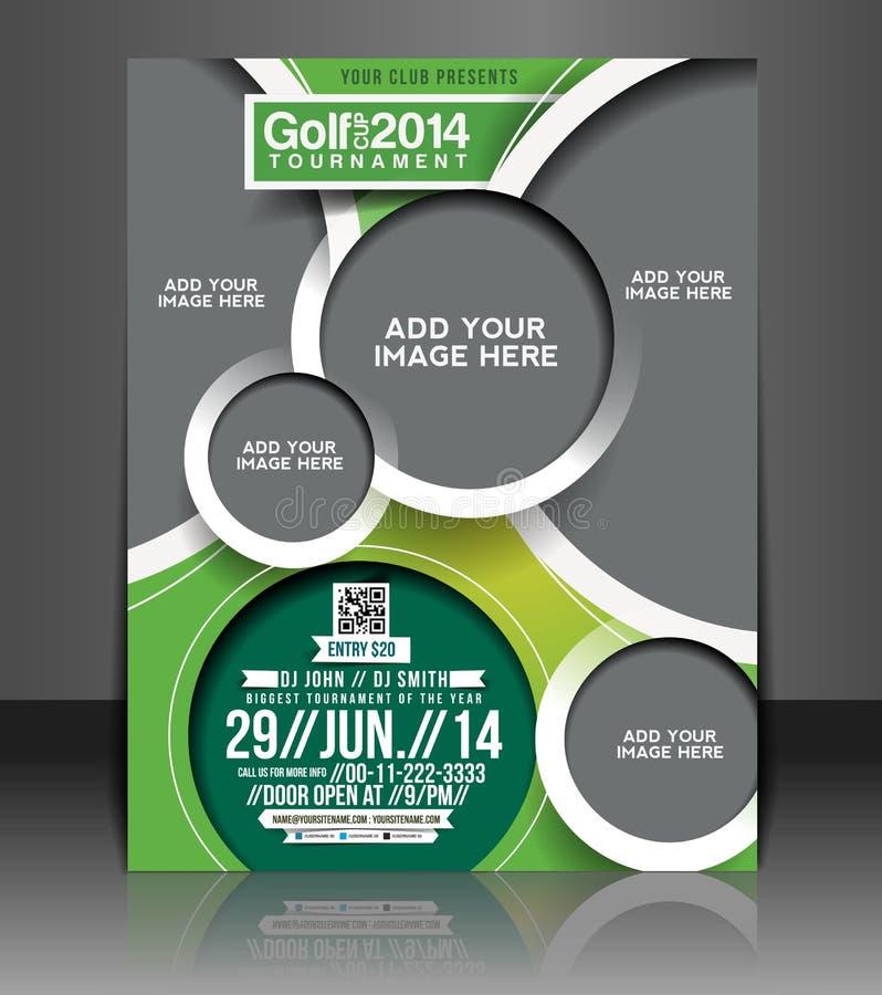 Golf Tournament Flyer Design stock illustration