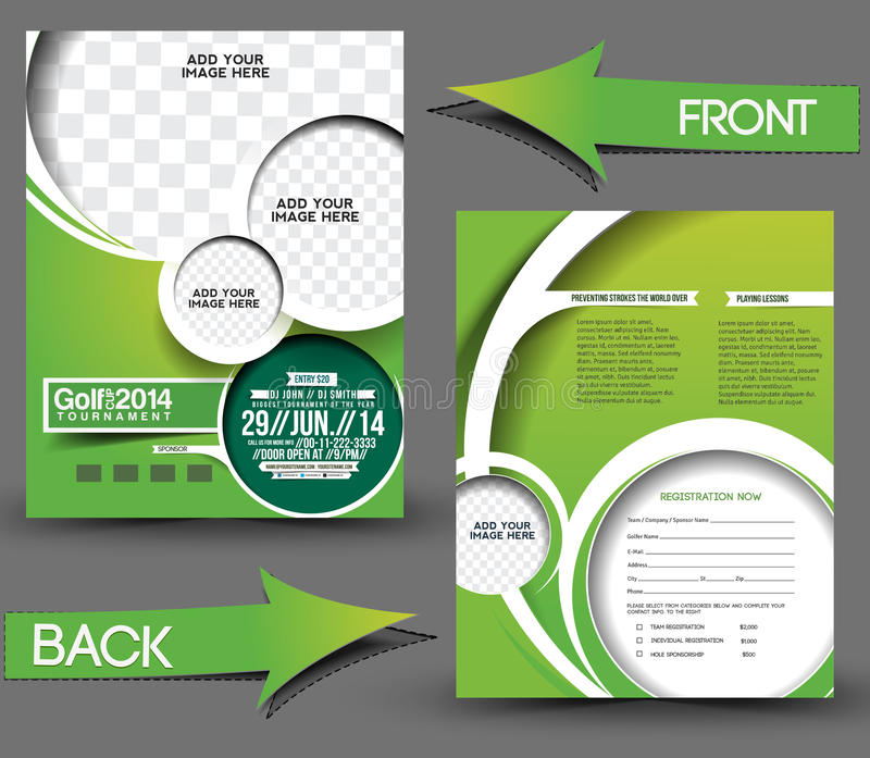 Golf Tournament Flyer royalty free illustration