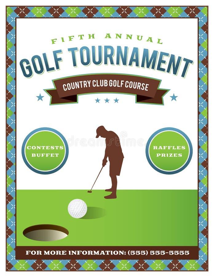 Golf Tournament Flyer Template Stock Vector Illustration Of Event - Golf tournament flyer template