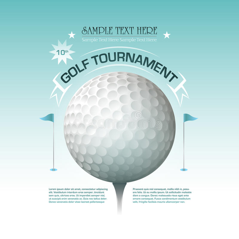 Free Golf Tournament Invitation Banner Background Royalty Free Stock Images - 37917769