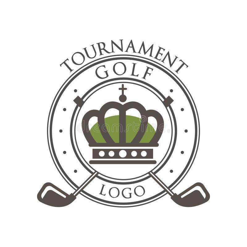Set Of Vintage Sports Emblems Labels Badges And Logos Monochrome Style: Golf Tournament Logo Best Est 1978, Elegant Vintage Sport