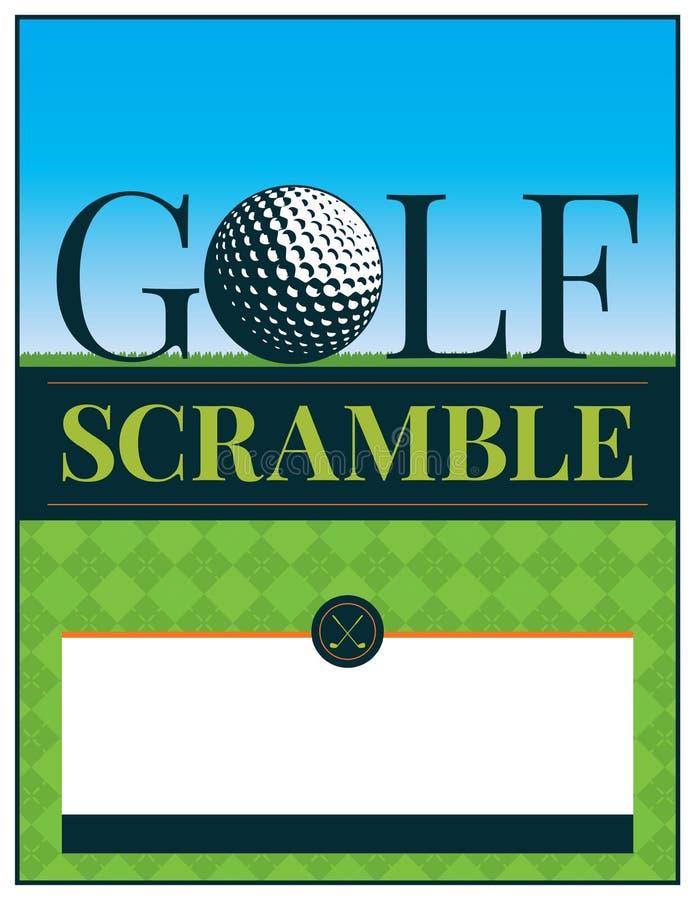 golf tournament flyer template stock vector