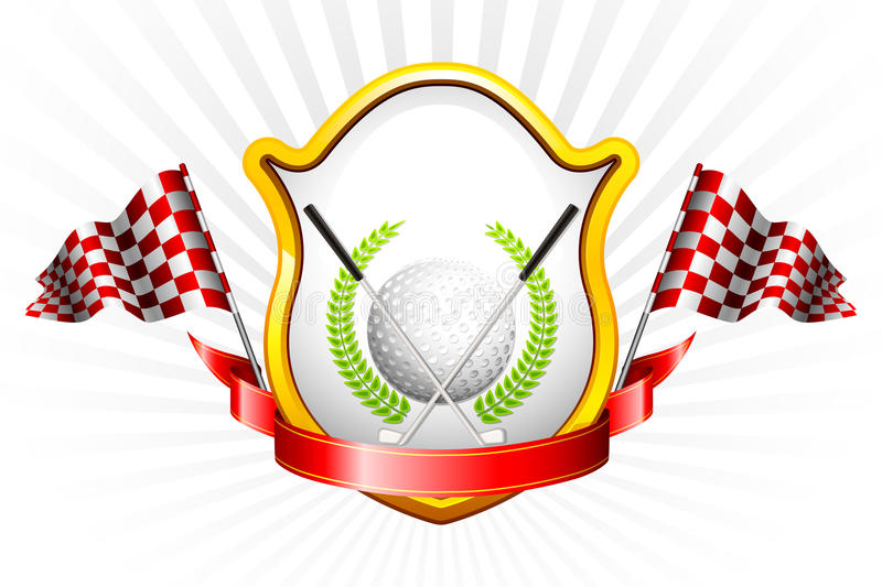 Golf Trophy vector illustration