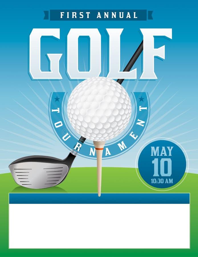 Golf-Turnier-Illustration lizenzfreie abbildung