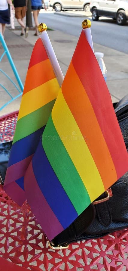 Golf uw PRIDE Flag stock afbeeldingen