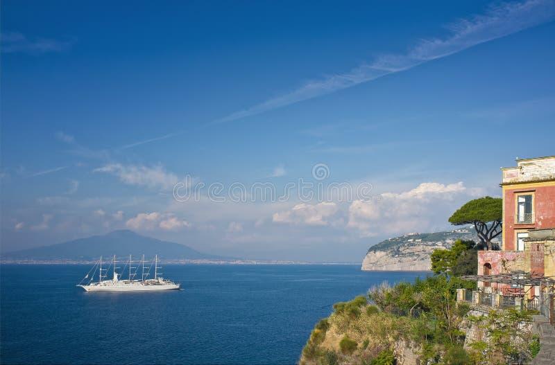 Golf van Napels, Sorrento Italië stock foto's
