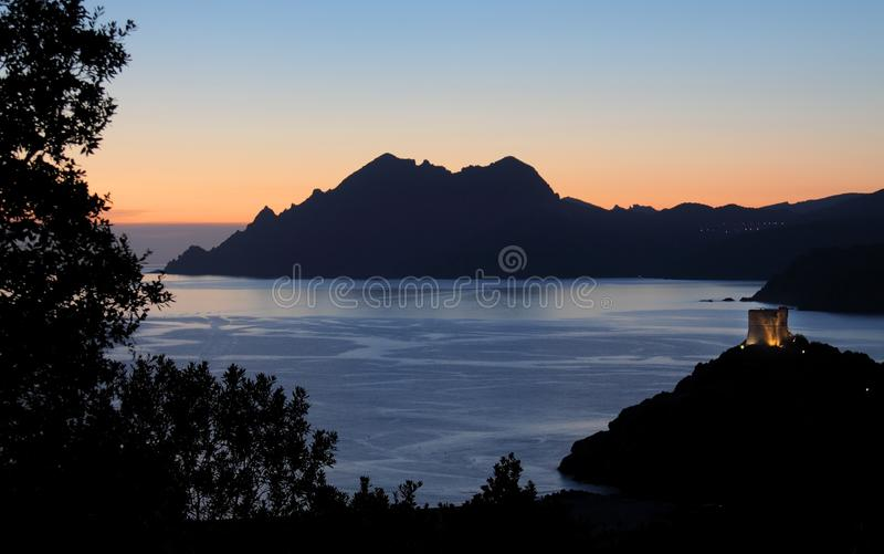 Golf van Porto, Corsica, Frankrijk royalty-vrije stock foto