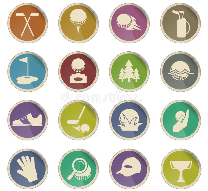 Golf icon set. Golf vector icons for user interface design vector illustration
