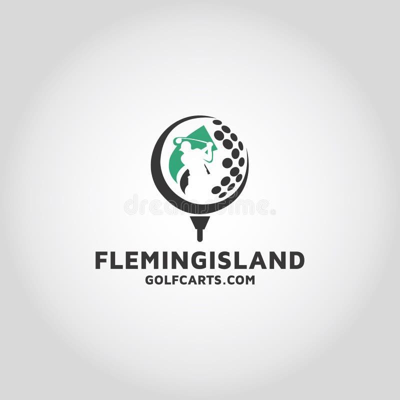 Golf Vector Logo Design Template. Sports Or Game Stock