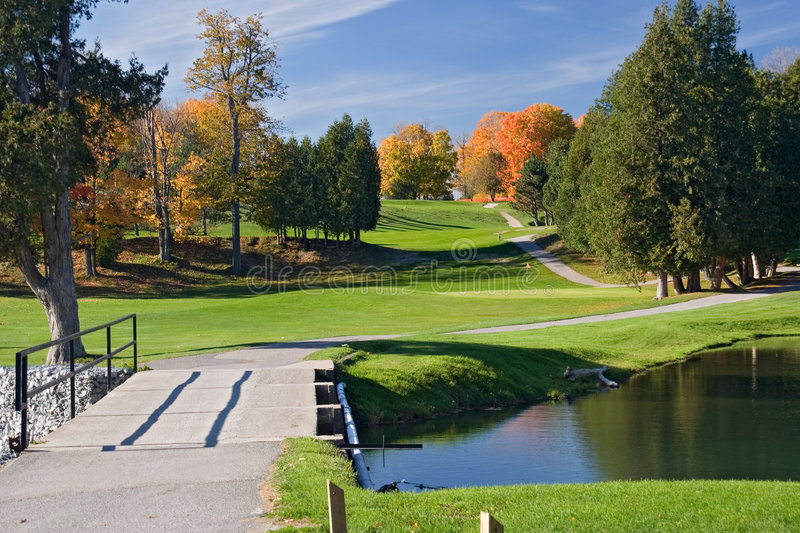 Golf view 07 royalty free stock photography