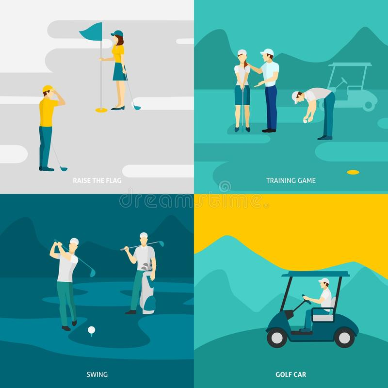 Golf vlakke reeks royalty-vrije illustratie