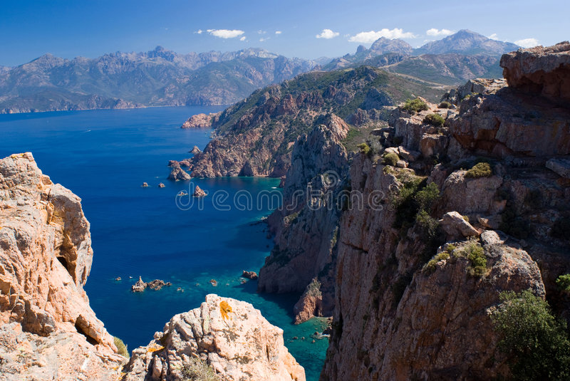 Golf von Porto, Korsika stockbild
