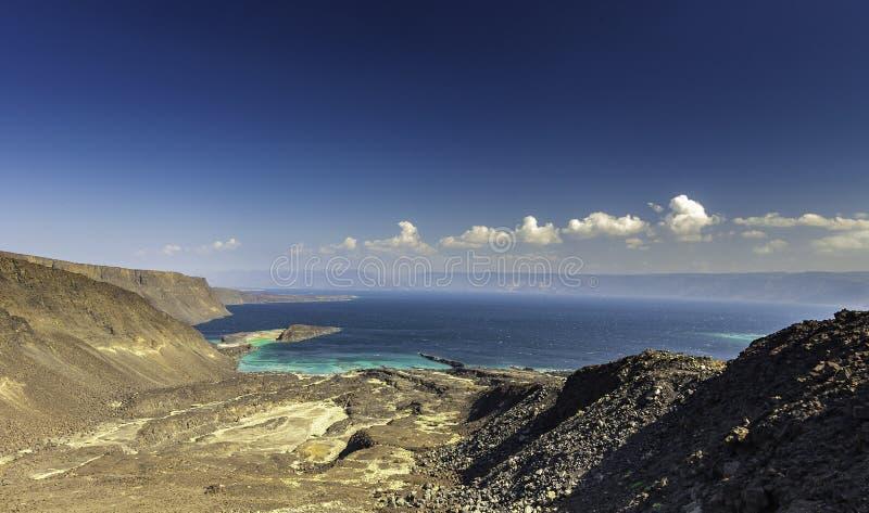 Golf von Tadjourah-Ansicht in Dschibuti lizenzfreies stockfoto