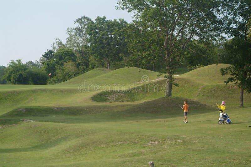 golf wózkowym gracza zdjęcie stock
