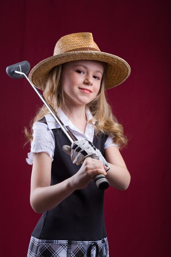 Golf w żywym pokoju zdjęcia royalty free