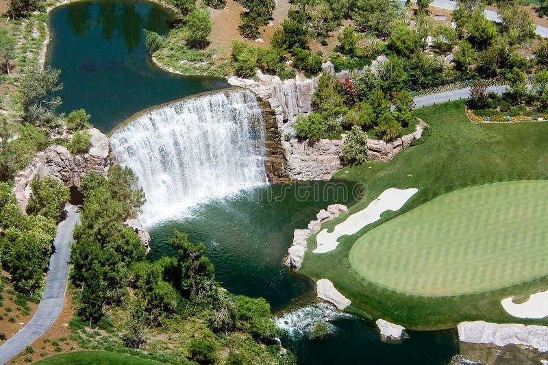 Golf waterfall stock image