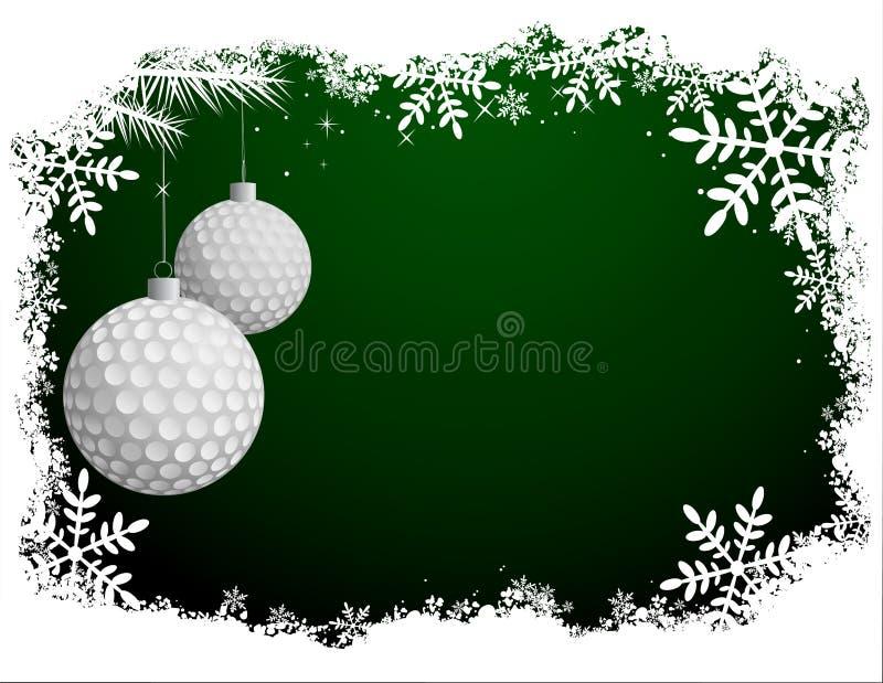 Golf-Weihnachtskarte lizenzfreie abbildung
