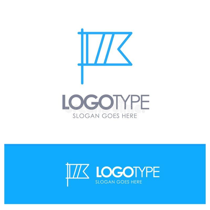 Golf, Zeichen, Sport, Flaggen-blauer Entwurf Logo Place für Tagline lizenzfreie abbildung