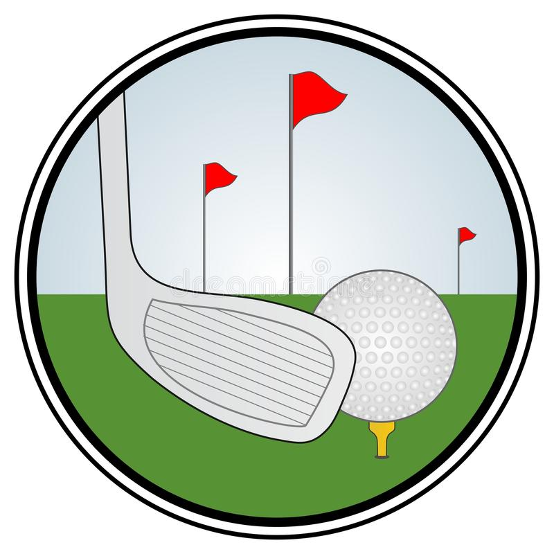 Golf zone royalty free illustration